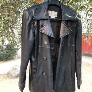 VTG NINE WEST Leather Jacket, Size S/CH